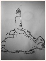 Solitary lighthouse by SIVKOFF