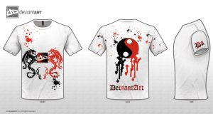 DA Logo T-Shirt Dragon design by ryuzaki7