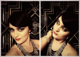 Jordan Baker- Great Gatsby make-up transformation by L-Justine