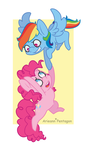 FanArt: Rainbow Dash and Pinkie Pie by Arieann-Pentagon