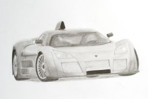 Gumpert Apollo Pencil Sketch by Anths95