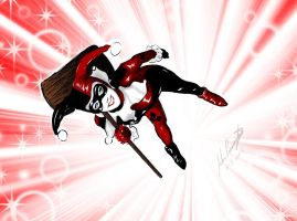 Harley Quinn Colored! by JoshPennington08