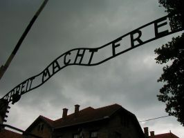 Auschwitz Entrance by makephrases