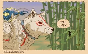 Okami: Flea for Your Life by Flowerlark