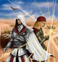 Ezio and Leo Finale by Noosha77