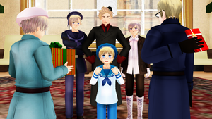 MMD Hetalia - Happy birthday, Sealand! by PikaBlaze