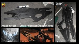 Mass Effect Phaeston Rifle Prop W.I.P. by Euderion