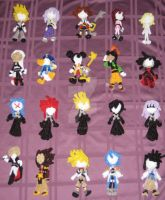 Kingdom Hearts Dolls by bennitorimanga