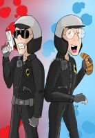 Lego Movie Humanized GoodCop BadCop by KarToon12