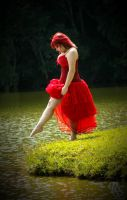 Lady in red by puppetmissing