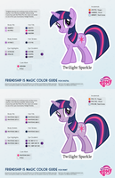 Twilight Sparkle Color Guide 2.0 [UPDATED] by kefkafloyd