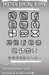 Sketch Social Icons by AlyssaRyan