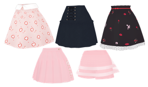 [MMD]Skirt pack[+DL] by Lhixx
