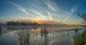 Mist River Panorama 03 by Artursphoto