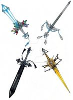 Ice, Wind, and Lightning Sword Adopts! Closed! by madhatterkyoko