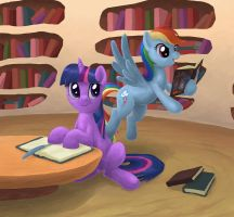Reading Together by Choedan-Kal