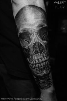 skull tattoo by ValeriyLetov