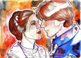 Leia and Han by bulma24