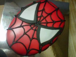 Spider Man Fondant Cake by sweetestsincakes