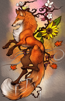 .: 4 Seasons Fox :. by WhiteSpiritWolf