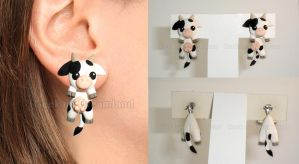 Cow earrings by GeekOnDreamland