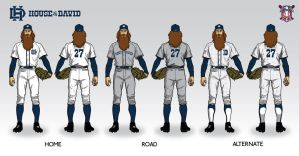House of David Baseball Uniform Concept by Satansgoalie