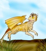 Young Draco running by Selinelle