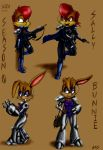 Sally and Bunnie Concepts by dcaarmus