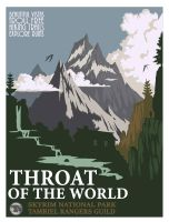 Throat of the world, travel posters by Kennstan