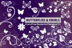 Butterflies and Flower Swirls by fiftyfivepixels