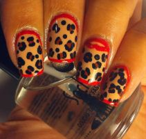 Sexy Animal Print Nail Art by aleidapinon