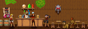 Bar Scene by Badassbill