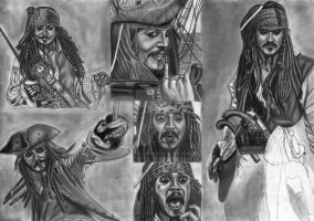 Jack Sparrow Compilation WIP 23 by diablocyrus