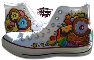 Donut Shoes One by marywinkler