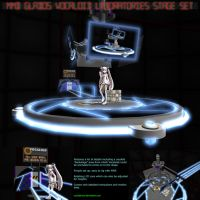 MMD GLaDOS' Vocaloid Lab Stage Set by Trackdancer