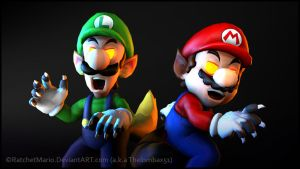 SFM - Were-Mario Bros. by RatchetMario