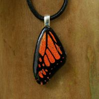 Mini Fused Glass Monarch Wing by FusedElegance