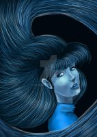 Girl in Blue by Sironae