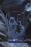 Engraved Star Wars glass by Yuki-Myst