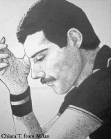 Freddie Mercury with points by DrawnByYou
