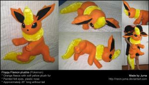 Big floppy Flareon plushie by Neon-Juma
