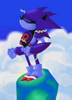 REQUEST - Mecha Sonic by EvilSonic2