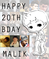 HAPPY 20th BIRTHDAY ZAYN MALIK by chickyrabb