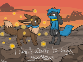 PMD2:Don't want to say goodbye by AnglaisRose
