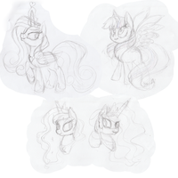 Compilation Princesses sketches by PumpkinKikile