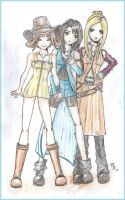 Selphie, Rinoa and Quistis by Spyko