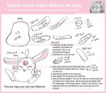 Tutorial: Mokona felt plush by vivee