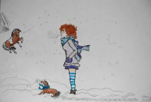 Some Winter fun by ladyburrfoot