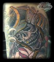 Samurai skull by state-of-art-tattoo