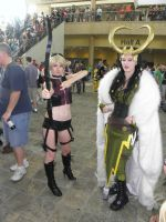 Otakon 2012 - Fem-Loki and Fem-Hawkeye by mugiwaraJM